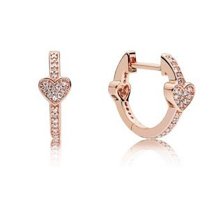 Pandora Alluring Hearts Rose Gold Earrings